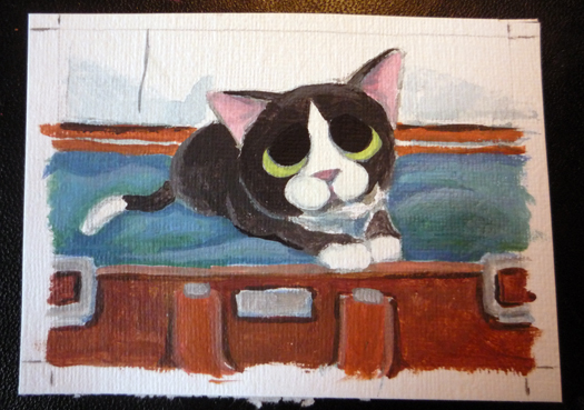 Painting an aceo Step 3