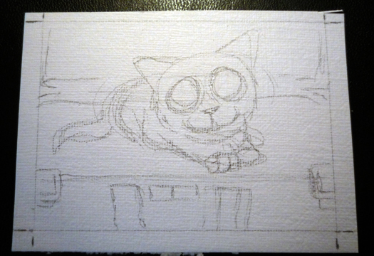 Painting an aceo Step 1