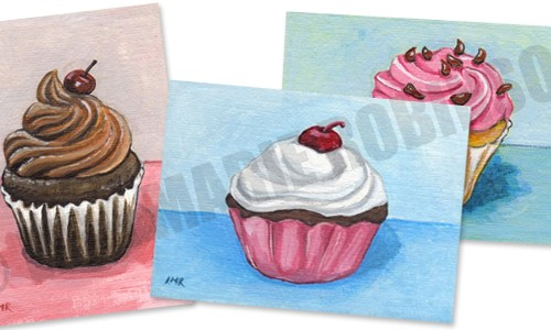 Cupcake ACEOs for Sale