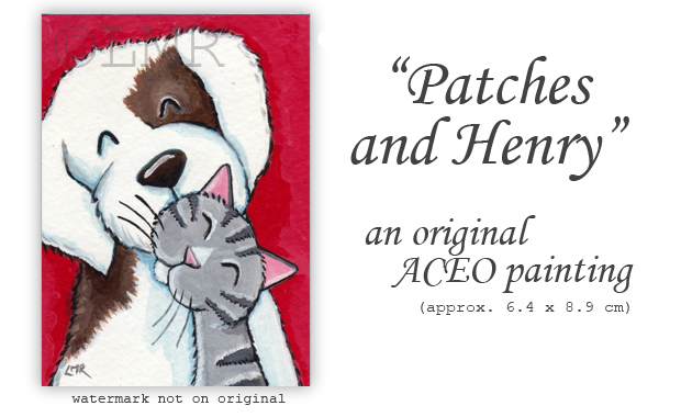 Original Cat ACEO - Patches and Henry - © Lisa Marie Robinson