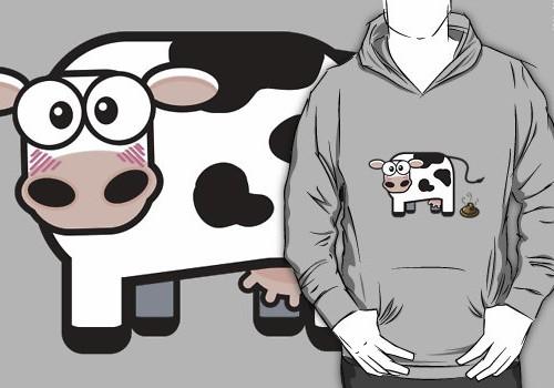 Hoodie Oops I Pooped Cow © Lisa Marie Robinson