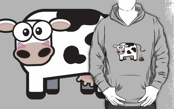 Buy Hoodie Oops I Pooped Cow © Lisa Marie Robinson