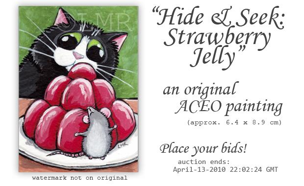 Original Cat ACEO: Hide and Seek © Lisa Marie Robinson