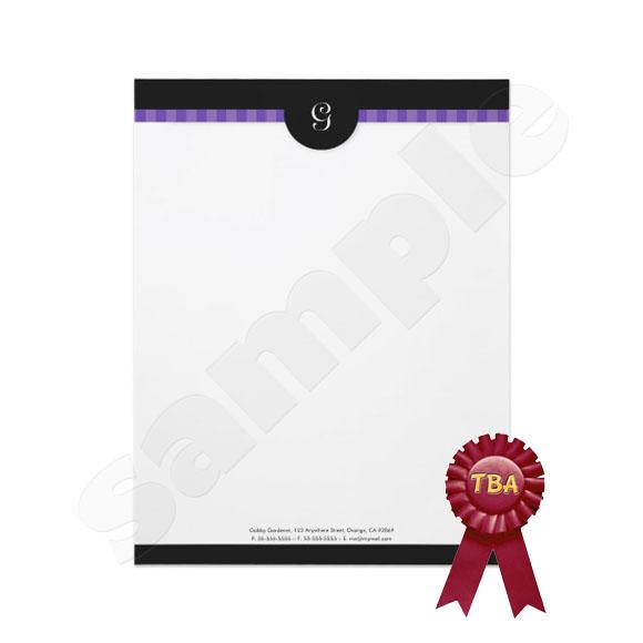 TBA Winner - Modern Stripe Monogram Letterhead