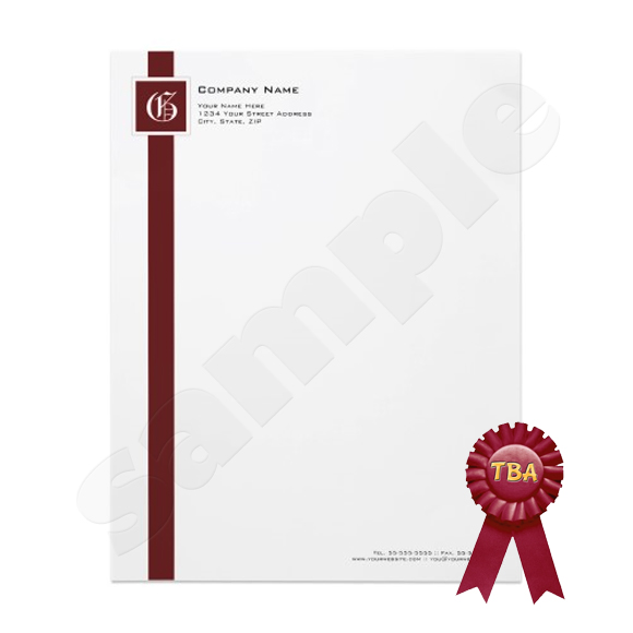 Monogram Letterhead TBA Winner