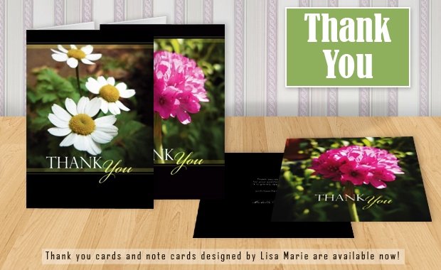 Floral Thank You Cards © Lisa Marie Robinson