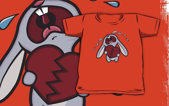Broken Hearted Bunny Kids T-Shirt © Lisa Marie Robinson