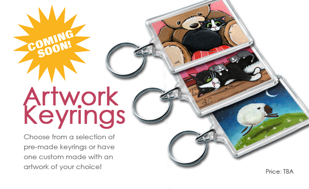 Coming Soon: Keyrings featuring artwork by Lisa Marie Robinson