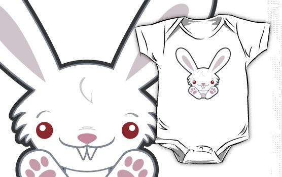 Vampire Bunny Rabbit Baby One-Piece © Lisa Marie Robinson