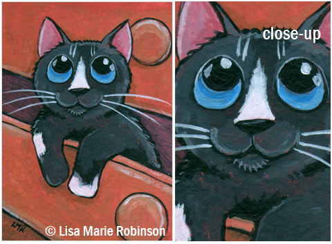 Cat ACEO Bottom Drawer Dweller © Lisa Marie Robinson