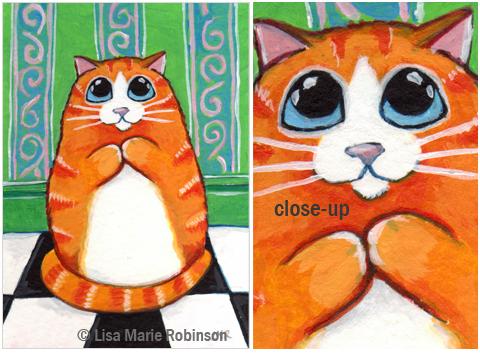 Cat ACEO Matryoshka © Lisa Marie Robinson