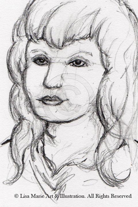 Female Pencil Sketch © Lisa Marie Robinson
