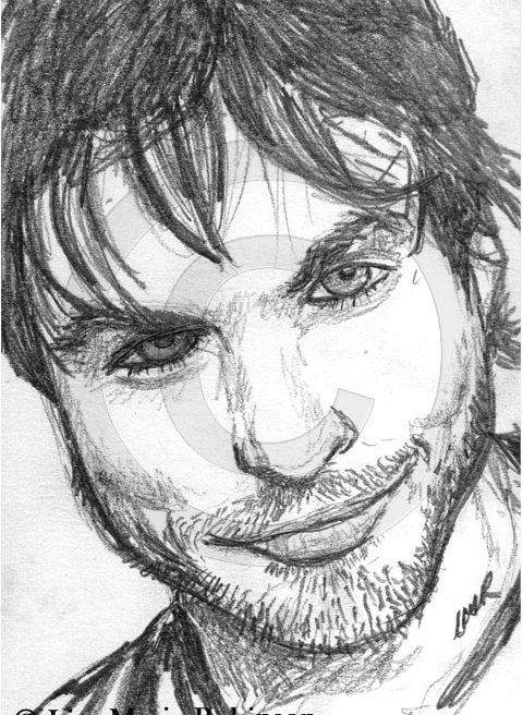 Ian Somerhalder Pencil Sketch © Lisa Marie Robinson