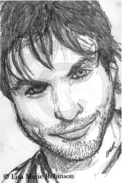 Ian Somerhalder Pencil Sketch © Lisa Marie Robinson