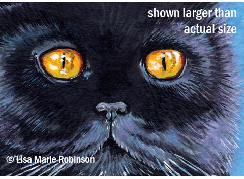 Black Cat ACEO: Salem copy; Lisa Marie Robinson