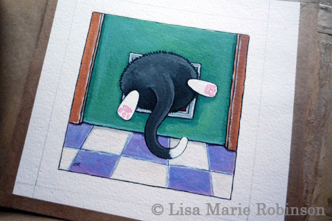 New cat painting for Whitby Galleries