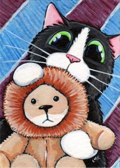 Cat ACEO: Little Leo
