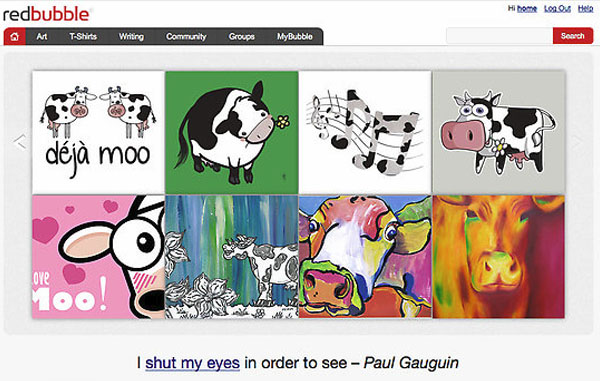 I Love Moo Feature Redbubble