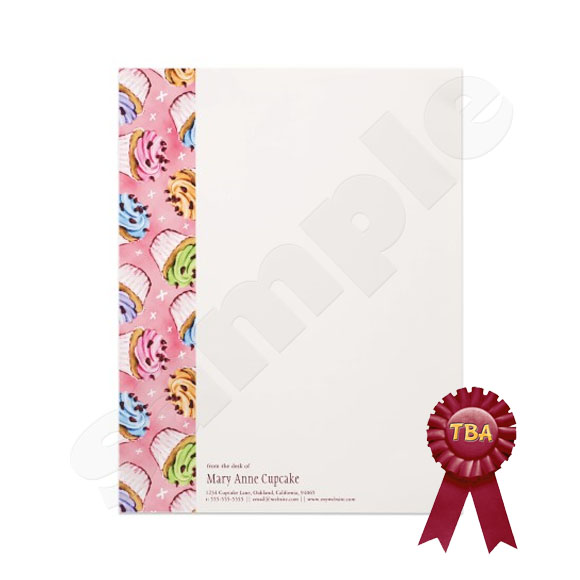 TBA Winner - Cupcake & kisses Letterhead