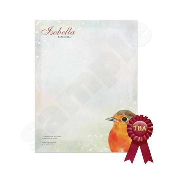 TBA Winner - Rainbow Pastel & Robin Letterhead