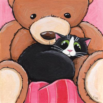 Big Ted Cat Art Print