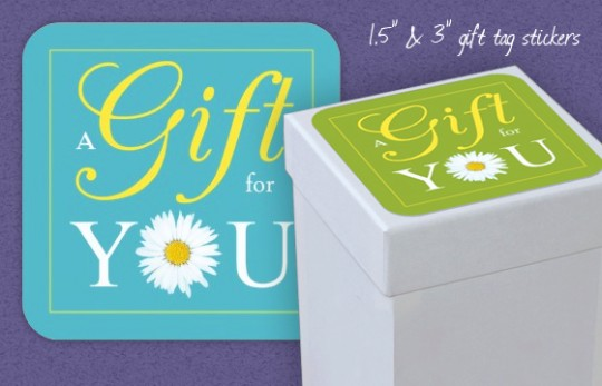 A Gift for You - Gift tag stickers by Lisa Marie Robinson