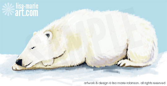 New polar bear artwork