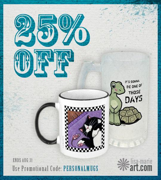 25% OFF Mugs