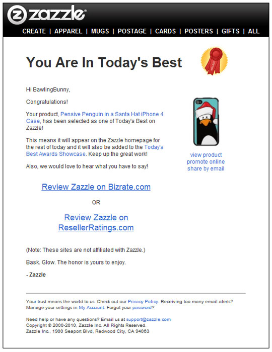 Today's Best 20 August 2011