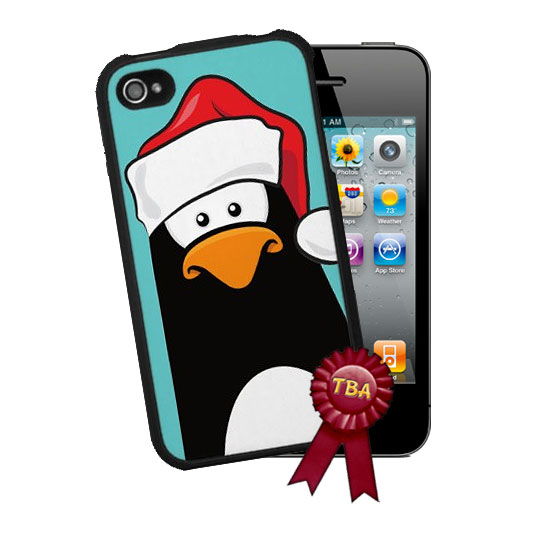Xmas Pensive Penguin iPhone 4 Case