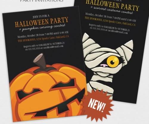 Spooky Halloween Invitations by Lisa Marie Robinson