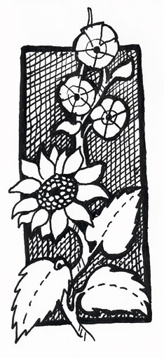 Pen and Ink Sunflower © Lisa Marie Robinson