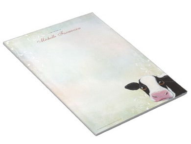 Cow Notepad by Lisa Marie Robinson