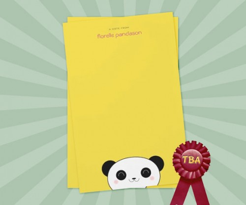 Kawaii Paper on Yellow Note Paper wins TBA