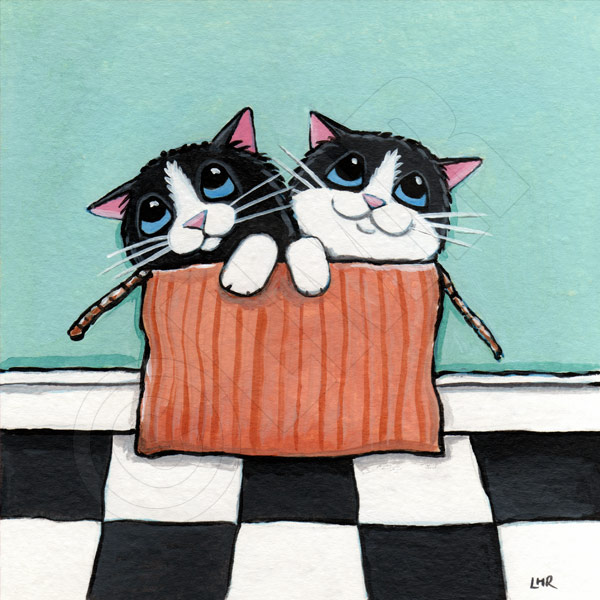 Cat Art by Lisa Marie Robinson