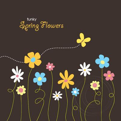 Funky Spring Flowers © Lisa Marie Robinson