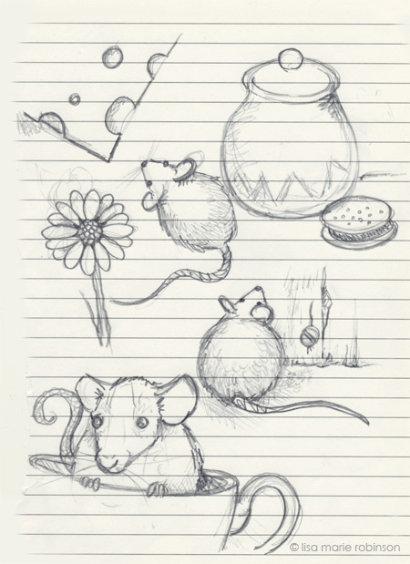 Sketchbook - 18 April 2012 - Mice