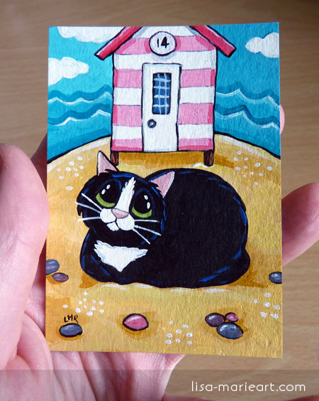 Cat ACEO - Outside No 14