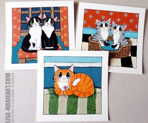 Cat Paintings Whitby Galleries June 2012