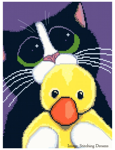 Can I Sleep With You Cat Cross Stitch Chart
