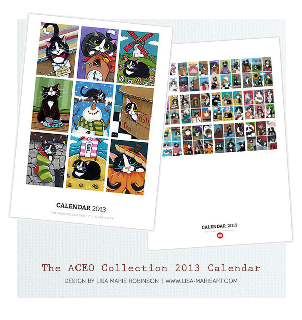 The Cat ACEO Collection 2013 Calendar by Lisa Marie Robinson