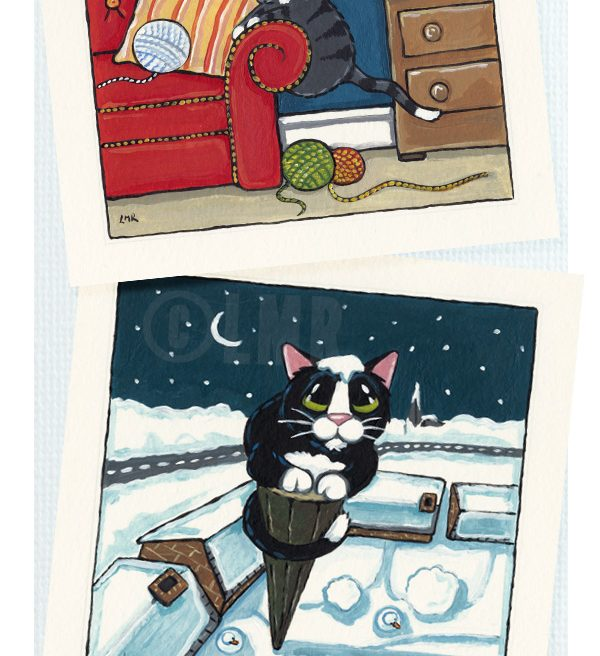 Cat Paintings - Whitby Galleries, November 2012
