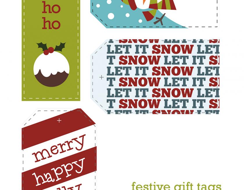 Festive Gift Tags Freebie