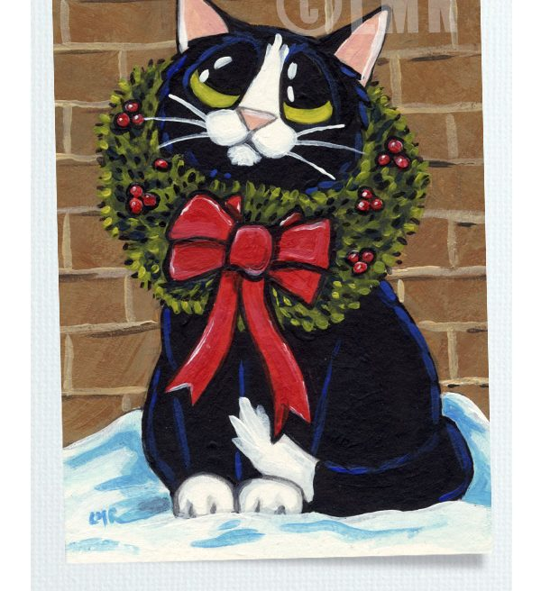 Original Cat ACEO by Lisa Marie Robinson