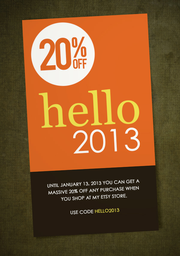 Get 20% OFF at my Etsy Store
