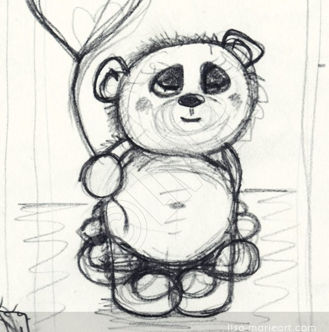 Cute Bear Sketch by Lisa Marie Robinson