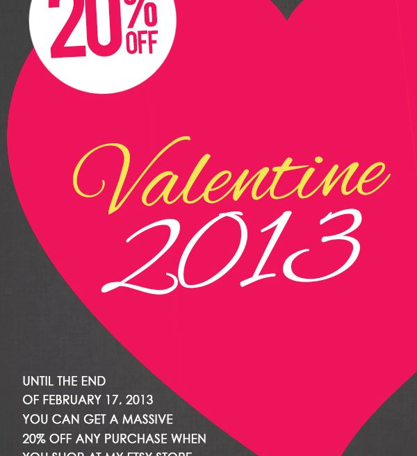 Get 20% OFF with Code VALENTINE2013