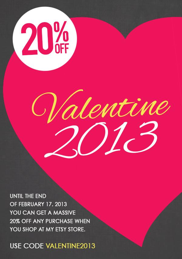 Get 20% OFF with Code VALENTINE2013