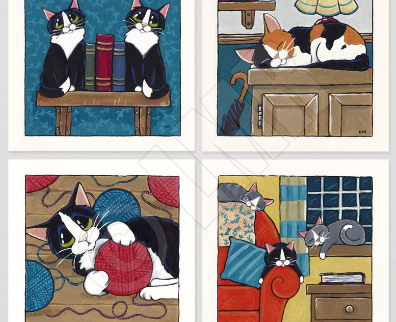 Cat Paintings - Whitby Galleries 2013