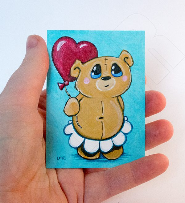 Unbearably Cute ACEO by Lisa Marie Robinson
